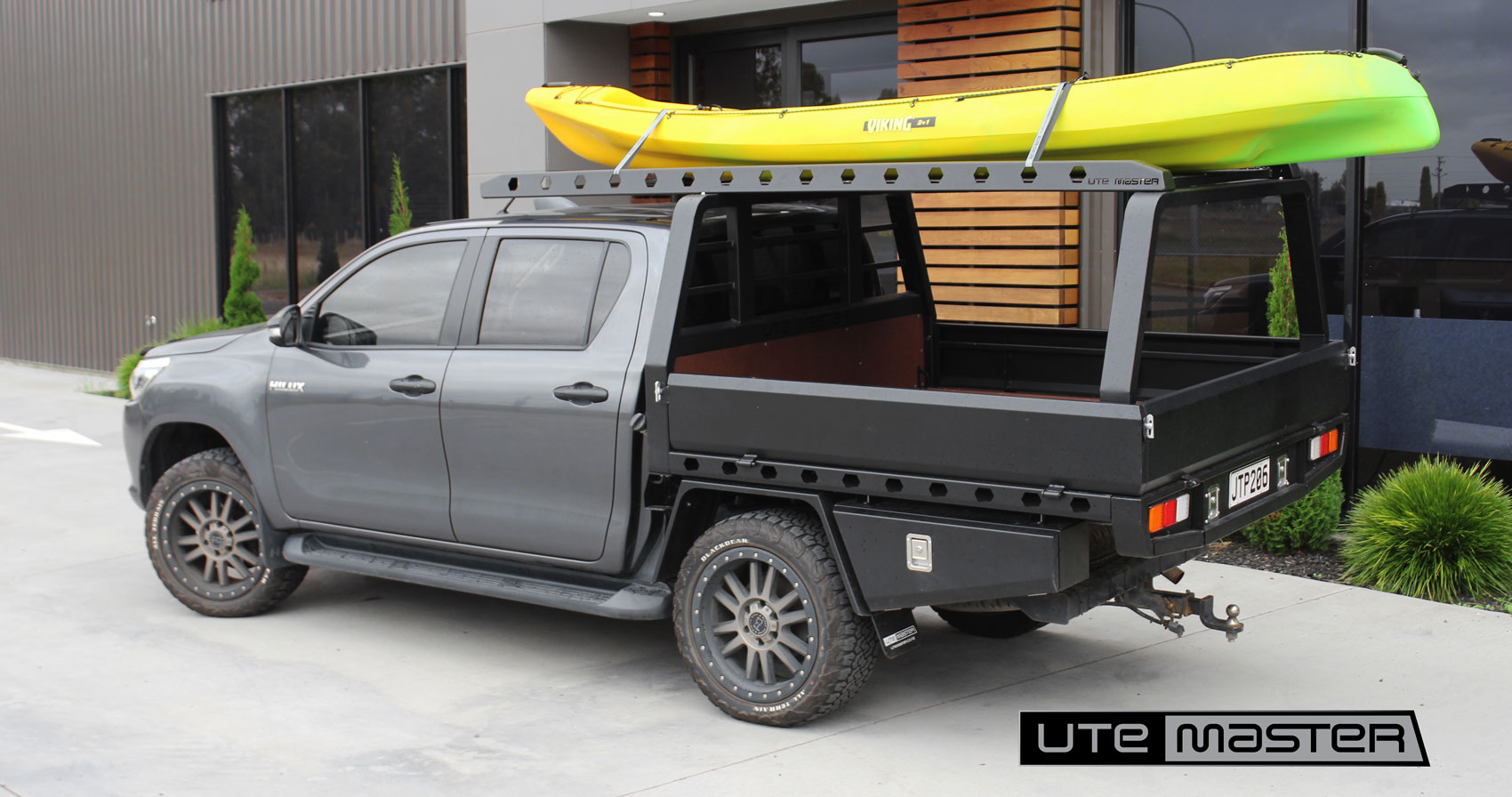 Cantilever Roof Rack to suit Steel Flat Deck Toyota Hilux NZ
