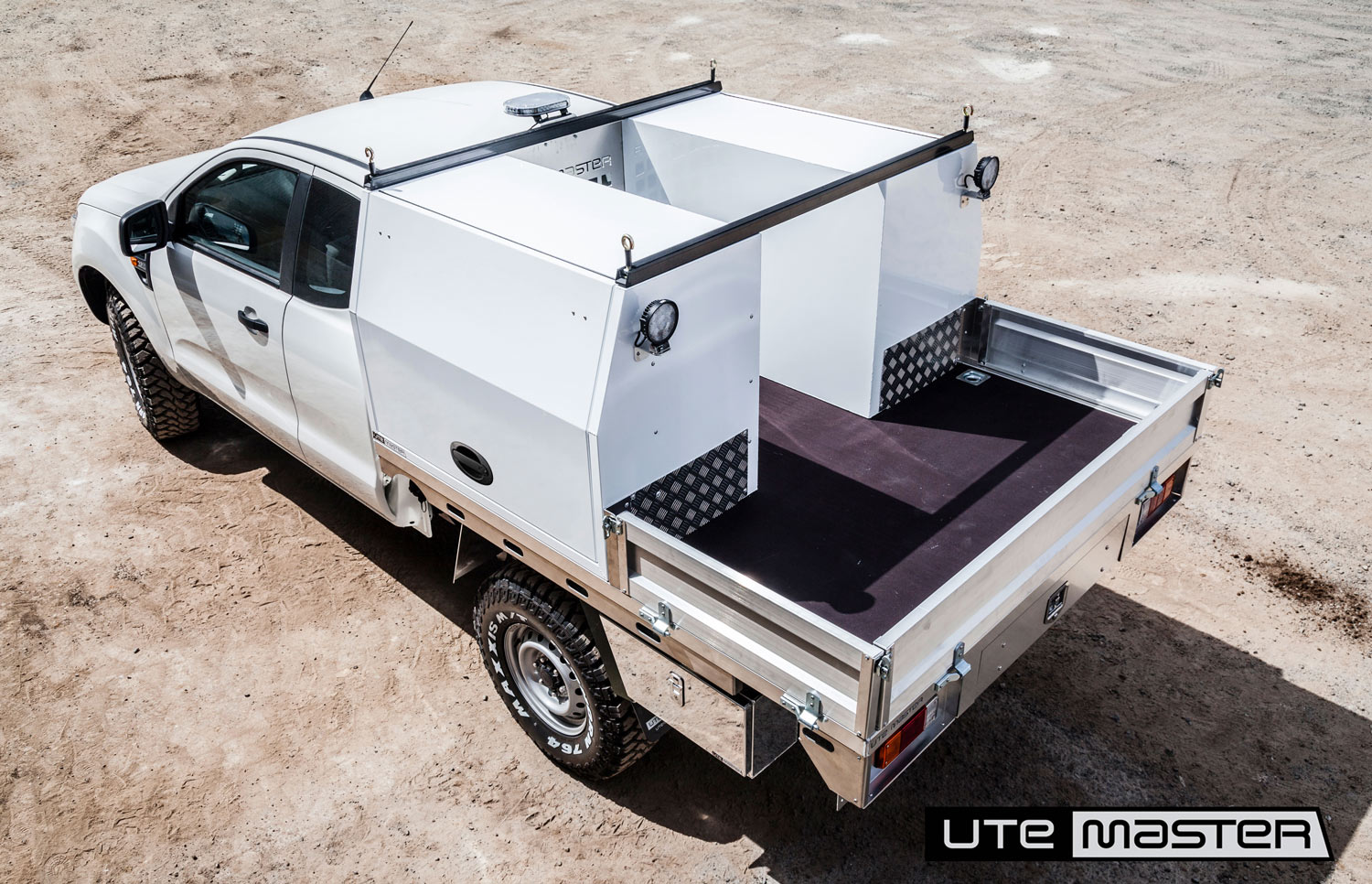 Flat Deck and Toolbox Fitout Ford Ranger Utemaster Roof Racks Shelving Drawers Extra Cab