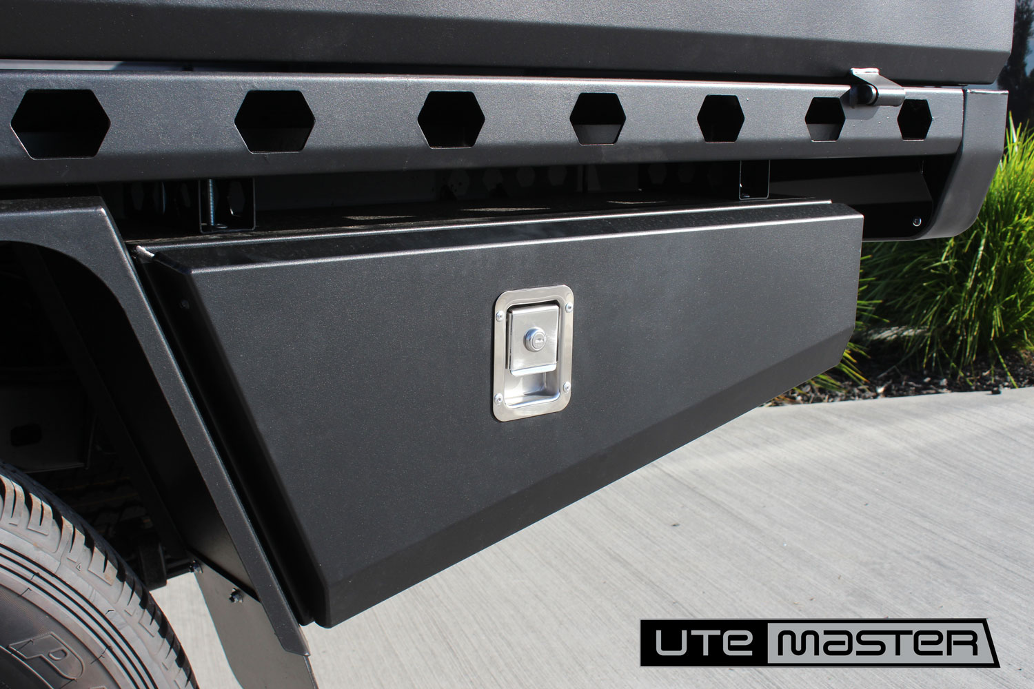 Underbody Toolboxes to suit Utemaster Steel Flat Deck Toyota Hilux Ute Tray