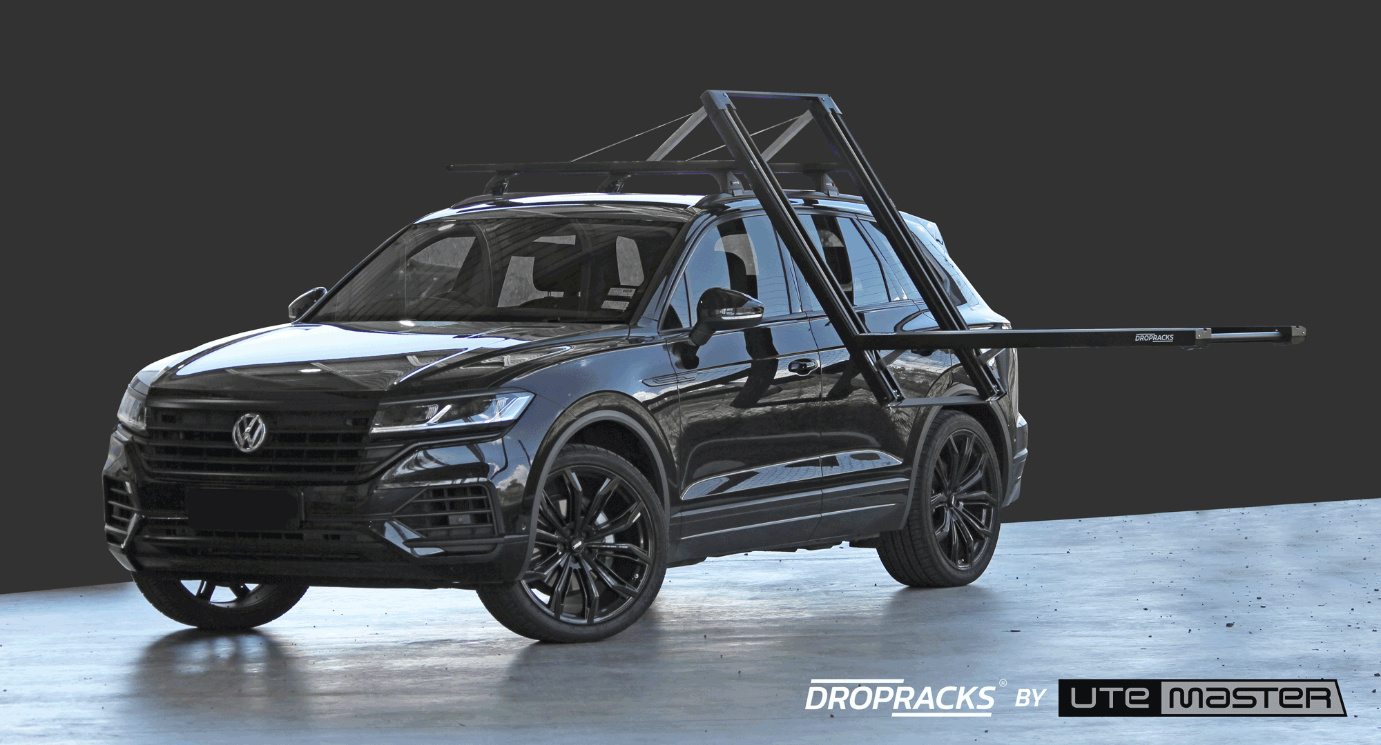 Volkswagen Touareg Roof Racks - Dropracks by Utemaster Lowerable Roof Rack Bike Carrier SUV