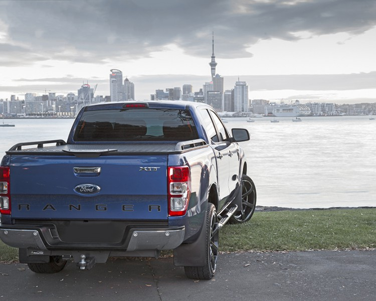 Product Photo Load Lid Ford Ranger Powdercoated Black Side Rails