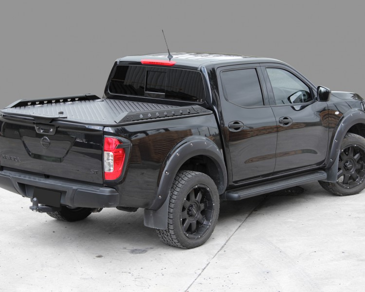 Nissan Navara Utemaster Load Lid Hard Lid Black Tough Side Rails