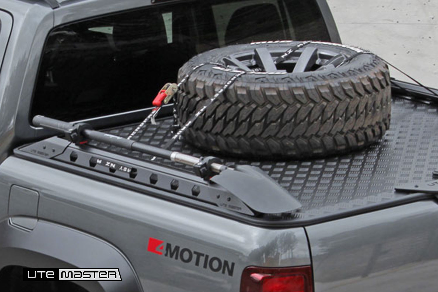 Utemaster Load Lid Destroyer Side Rails Volkswagen Amarok Destroyer Side Rails Black Grey Volkswagen Amarok Spade Holder