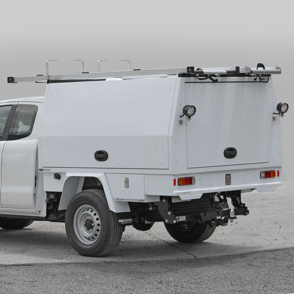 Utemaster Service Body to suit Ford Ranger Commercial Fitout for Fleet Ladder Racks Box Body