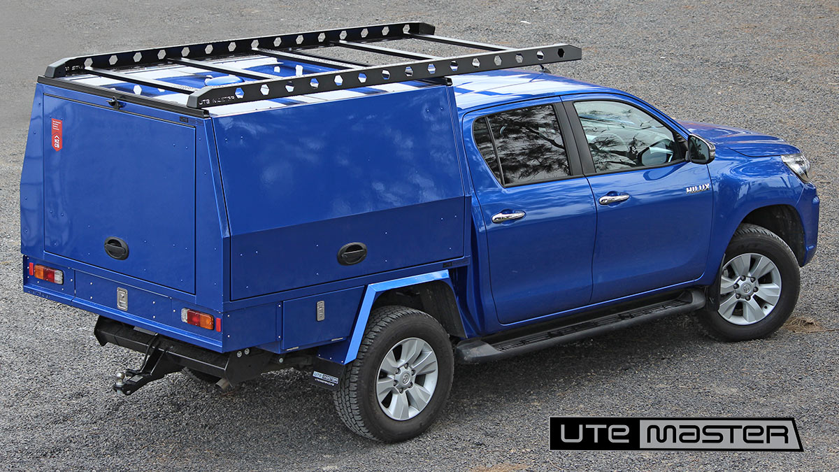 Utemaster Service Body to suit Toyota Hilux Blue Commercial Fitout