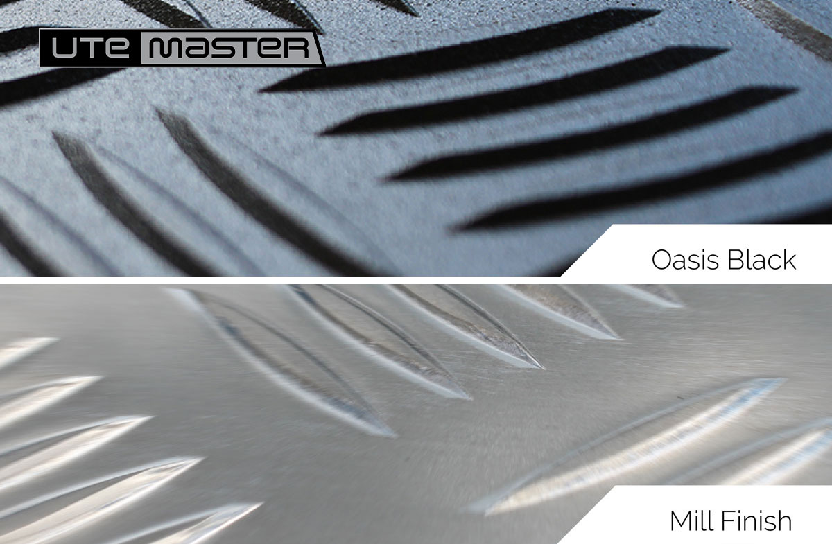 Utemaster Load Lid Mill Finish vs Oasis Black 1