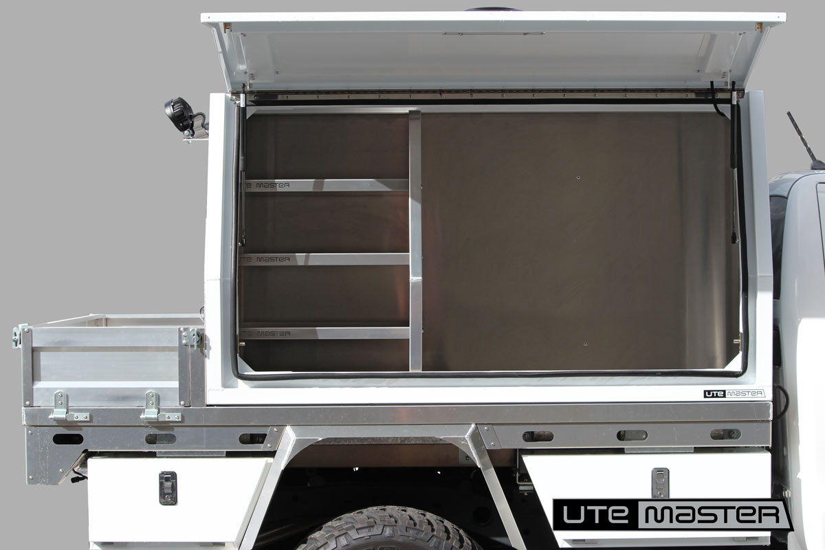 Utemaster Deck and Service Body toolbox service equipment water hydro storage Commercial Ute Mechanic Fitout storage access