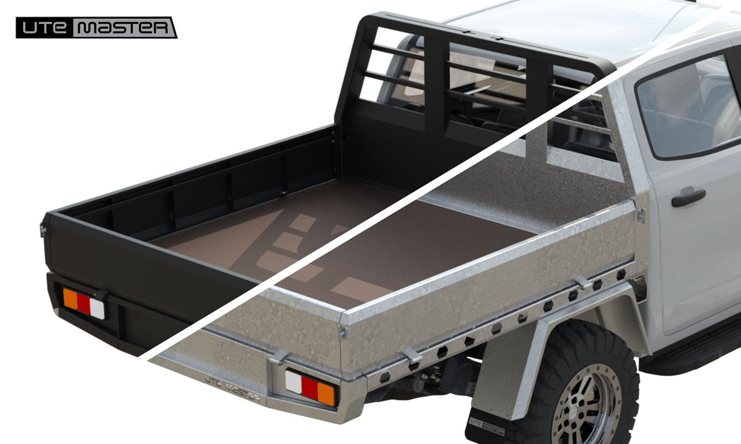 Galv or black Steel Flat Deck by Utemaster v2