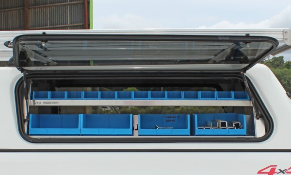 Hilux Canopy Shelving Side View