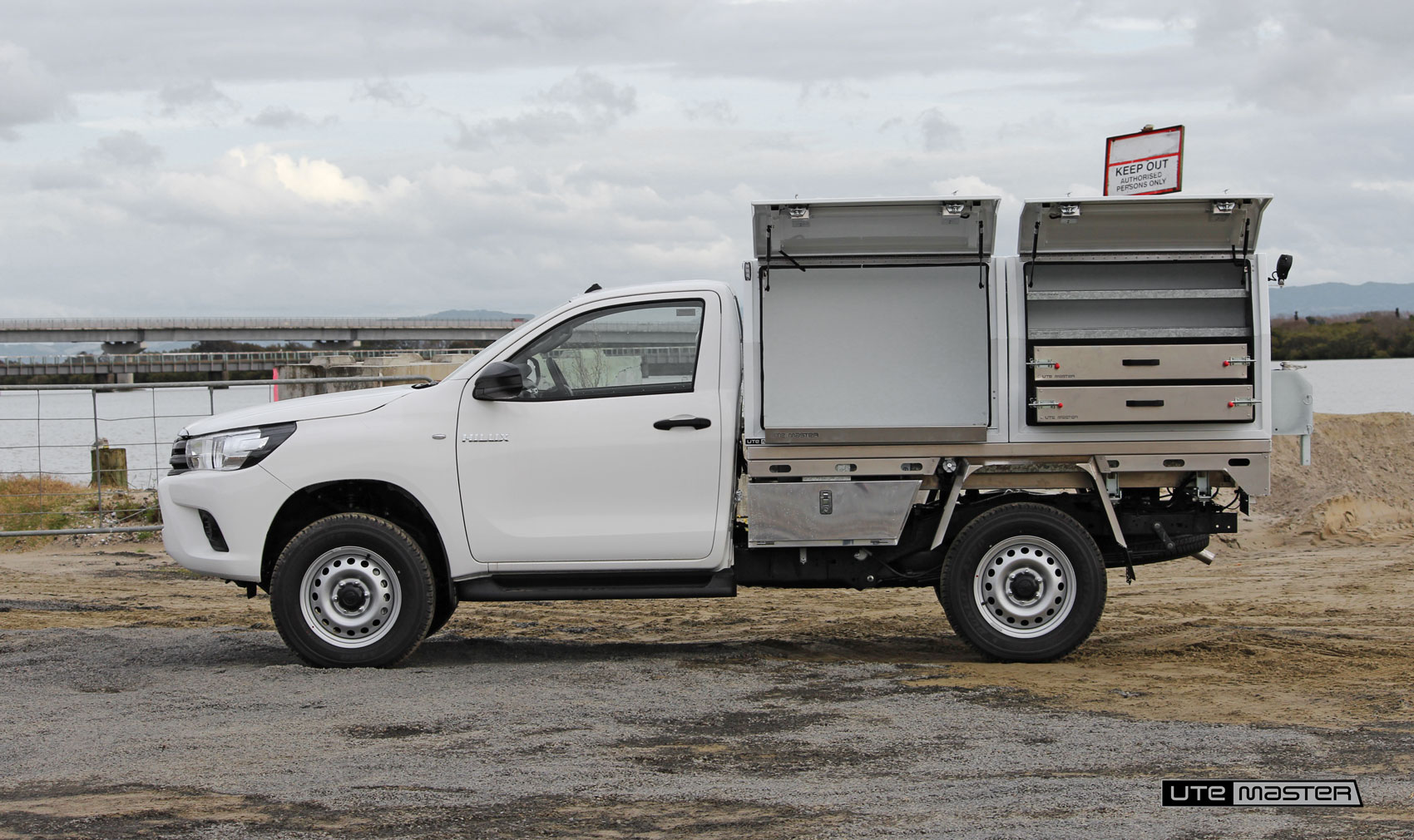 Utemaster Deck and Toolbox Fleet Toyota Hilux Toolboxes Ute