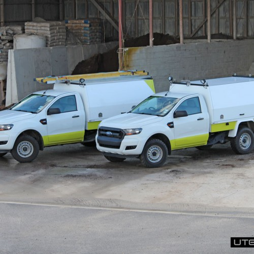 Utemaster Commercial Fleet Ford Ranger Service Body with Roof Racks by Utemaster