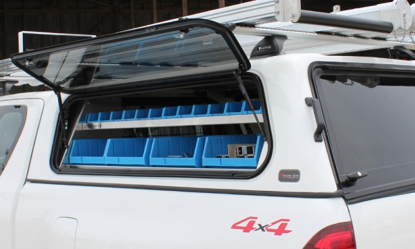 Hilux Canopy Shelving Exterior